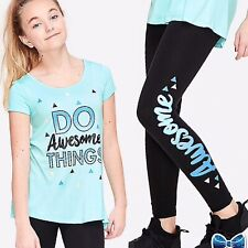 Justice Girls Size 6-7 Awesome SET Swingy Tee & Legging New With Tags