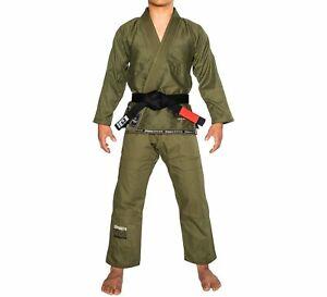 Fuji Suparaito Super Lightweight Mens Brazilian Jiu-Jitsu BJJ Gi - Army Green
