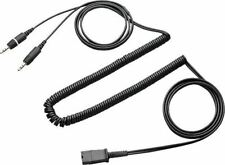 New Plantronics 28959-01 Proshare Stereo Adapter Cable 2 X 3.5mm plug to QD