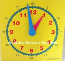 "Teacher Resource Demonstration Clock 15""X15"" Learn to Tell Time Math Homeschool"