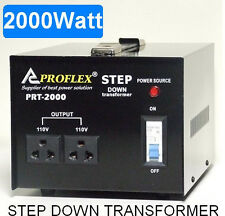2000W STEP DOWN TRANSFORMER STEPDOWN 240V - 110V BLACK