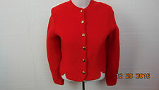 Vintage Women's TALLY-HO Pollak.Import Export Cor wool cardigan sweater sz10 Red