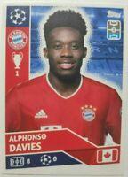 2020/21 Topps Champions League ALPHONSO Davies B Munich #BAY10 RC INVEST