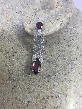 Genuine Tourmaline And Real White Topaz Gemstone 925 Sterling Silver Earrings