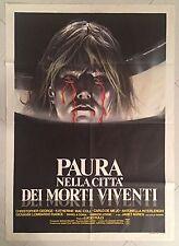 MANIFESTO 2F PAURA NELLA CITTA' DEI MORTI VIVENTI LUCIO FULCI 1° ED.1980 HORROR