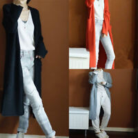 With Women's Loose Autumn Coat Cardigan Pockets Cashmere Long S-XXL Sweater
