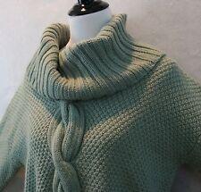 Talbots Woman Stunning Sage Green Acrylic & Wool Chunky Cable Sweater SZ X GC