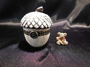 """Boyds Treasure Box """"GRETA'S SNOW KISSED ACORN w/GLITTER MCNIBBLE"""" - 1E - NIB"""