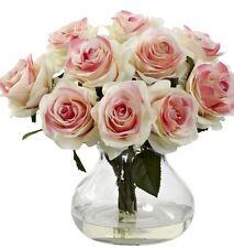 Home Decor Floral Silk Rose Center Flower Arrangement Wedding Bridal Party