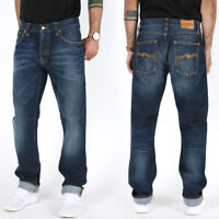 Nudie Herren Regular Fit Bio Denim Jeans Hose - Sharp Bengt Rough Twill