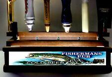 Fishermans Pub 11 beer tap handle display / Lighted Bar Sign