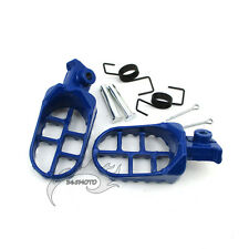 Blue Footrest Footpegs Foot Pegs Rest For Yamaha PW50 PW80 TW200 Dirt Motor Bike