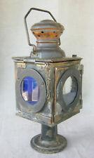ancienne lampe lanterne train chemin de fer railroad lantern lamp