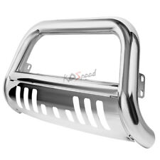 Polish Steel Bull Bar Front Bumper Grille Guard for 05-15 Toyota Tacoma Pickup