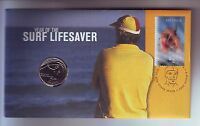 2007 Year of Surf Lifesaver 20 Cent Coin Stamp Set PNC FDC Australia