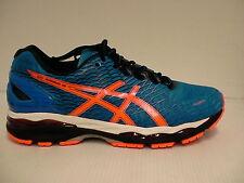 Asics shoes gel nimbus 18 electric blue hot orange black size 10 us men new