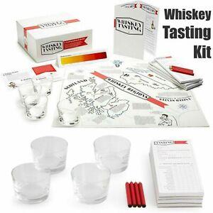 Teroforma Whisky Tasting Kit -Lover Accessory Gift Set Him Her 4 Tumbler Glasses