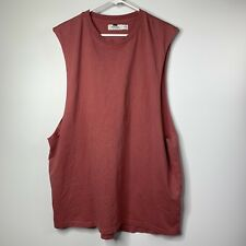 d24785b851a26 Topman Muscle Shirt XLarge Red Raw Edge Sleeveless T Shirt Stretch NEW M1