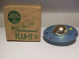 "Rare Mint 1960's ""PLAN-IT-BANK "" Astro Mfg W/Box-Key & Instruction & Information"