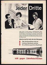 3w815/vieja publicitarias-de 1961-pasta de dientes Blend-A-MED