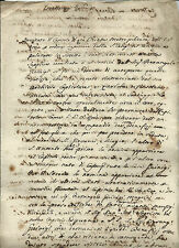 Manoscritto Richiesta Supplica per Suddivisione Beni di Pierangelo Guinigi Lucca
