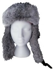 Mad Bomber Natural Rabbit Fur Hat Size Large Gray