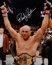 Randy Couture Autographed UFC 16x20 With Belt Photo- Beckett Auth *White