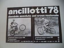 advertising Pubblicità 1978 MOTO ANCILLOTTI CRH 125