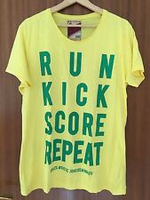 Review T-Shirt Herren Gr. L gelb grün NEU TOP WM Run Kick 10745301177