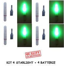 kit 4 starlight led elettronici galleggianti pesca luce notturna pile batteria