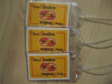 Vin De Chevaliers Luggage Tags - Vintage Swiss Wine Playing Card Name Tag Set 3