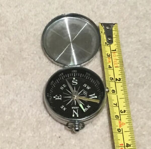Lovely Retro Keyring Compass, Made In Japan
