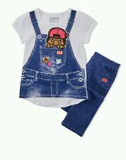 "Girls Trukfit ""Truk "" 2-Piece Outfit Shirt Top & Fleece Pants Set Size 6"
