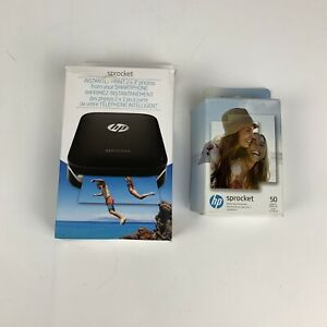 HP Sprocket Digital Photo ZINK Printer With Pack Of 40 Sheets Of Photo Paper