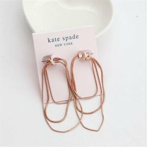 Kate Spade New York Know the Ropes Large Snake Chain Hoop Earrings Rose Gold