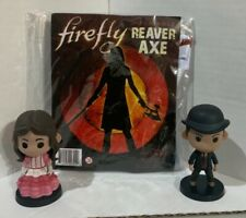 New listing Firefly Serenity Small Lot of 2 Qbits Euc Kaylee and Badger, and Reaver Axe