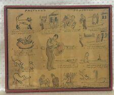 Antique America Folk Art Cat Cartoon drawing And Story Of Pretzel The Cat rare