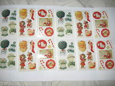 LOT ANY 50 Frances Meyer Christmas Stickers Santa Claus Bells Holly Candy Canes