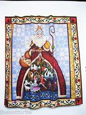 "TWELVE 12 DAYS OF SANTA Father Christmas Shower Curtain Jim Shore 70 x 72"" BNIP"