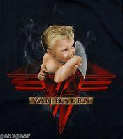 VAN HALEN cd cvr 1984 BABY SMOKING Official BLUE SHIRT SMALL new