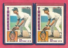 1 - 1984 Topps Don Mattingly New York Yankees # 8 Baseball Rookie Card