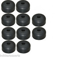 "Lot of 10 Recessed Rubber Feet Bumpers 1"" w  X 1/2"" h   metal washers built-in"