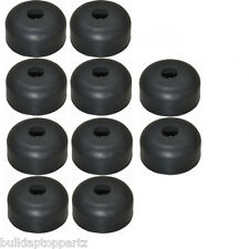 """Lot of 10 Recessed Rubber Feet Bumpers 1"""" w  X 1/2"""" h + metal washers built-in"""