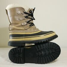 Sorel Kaufman Caribou Womens Boots Sz 8 Winter Snow Waterproof Wool Shoes Canada