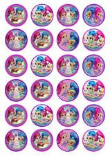 24 Shimmer and Shine Cupcake Fairy Cake Toppers Edible Wafer Paper Decorations