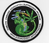 DEA DOMESTIC CANNABIS ERADICATION PATCH Heat Seal or Sew On + 1 FREE DEA Sticker