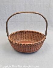 """Vintage 7"""" Oval Nantucket Lightship Basket by Irving Burnside"""