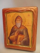 Saint John Climacus Greek Orthodox Byzantine Rose Gold Christian Icon on Wood
