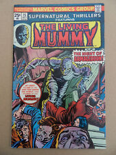 Supernatural Thrillers 15 .Final Issue .  Living Mummy . Marvel 1975 . FN +