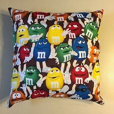 AWESOME NEW 15 X 15 M&M's CANDY THEME COMPLETE PILLOW - GREAT COLLECTORS GIFT!